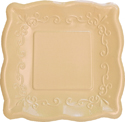 Buttercream Yellow Embossed Paper Dessert Plates
