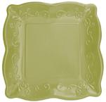 Celadon Embossed Paper Dessert Plates