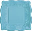 Azure Embossed Paper Dessert Plates