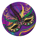 Mask of Mardi Gras Paper Luncheon Plates