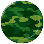 Army Themed Paper Luncheon Plates