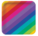 Rainbow Paper Luncheon Plates