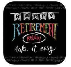 Chalkboard Retirement Paper Luncheon Plates
