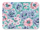 Whispering Floral Paper Tray Mats - 13 5/8 x 18 3/4 Inches