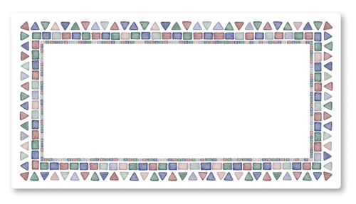 Mosaic Tile Paper Traymats - 11 Inches x 20.5 Inches
