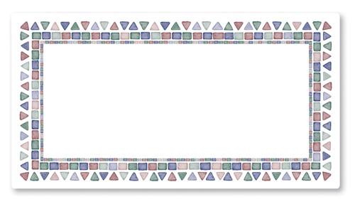 Mosaic Tile Paper Traymats - 10.5 Inches x 18.5 Inches