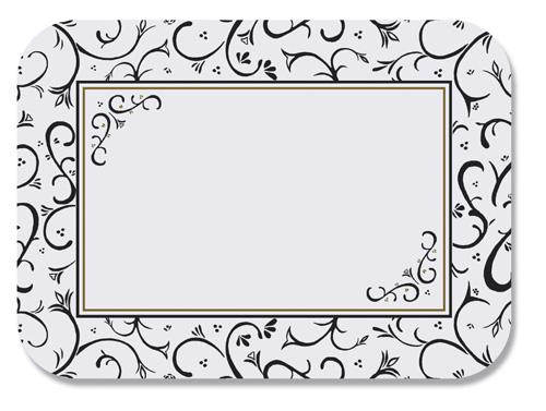 Scroll Paper Tray Mats - 12 3/4 x 16 3/4