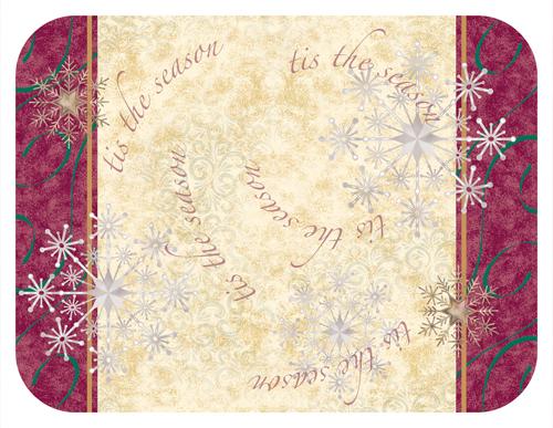 Tis The Season Paper Tray Mats - 12 3/4 x 16 3/4