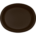 Chocolate Brown Oval Paper Plates