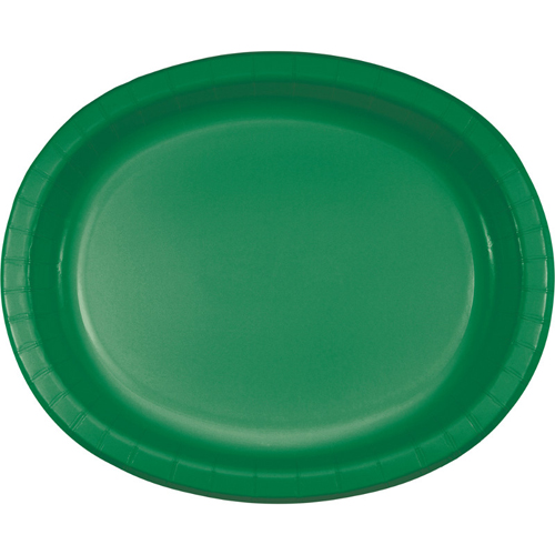 Emerald Green Oval Paper Plates