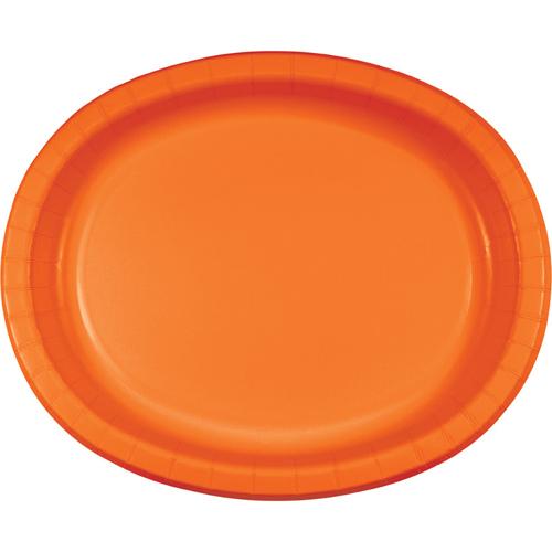 Sunkissed Orange Oval Paper Plates