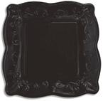 Black Licorice Embossed Paper Dinner Plates