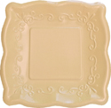 Buttercream Yellow Embossed Paper Dinner Plates