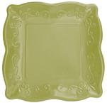 Celadon Embossed Paper Dinner Plates