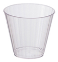 Clear Plastic Cocktail Glasses - Fluted