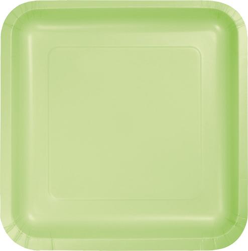 Pistachio Square Paper Dessert Plates