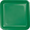 Emerald Green Square Paper Dessert Plates