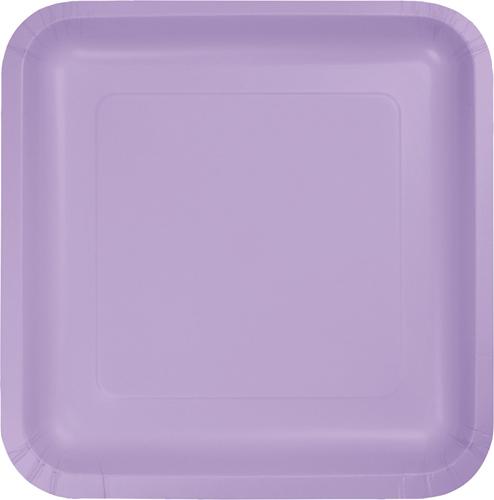 Lavender Square Paper Dessert Plates