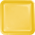 School Bus Yellow Square Paper Dessert Plates