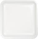 White Square Paper Dessert Plates