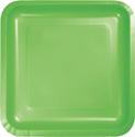 Citrus Green Square Paper Dessert Plates