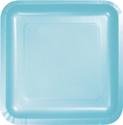 Pastel Blue Square Paper Dessert Plates