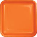 Sunkissed Orange Square Paper Dessert Plates