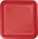 Classic Red Square Paper Dessert Plates