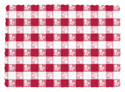 Red Gingham Paper Placemats