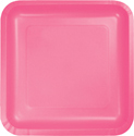 Candy Pink Square Luncheon Plates