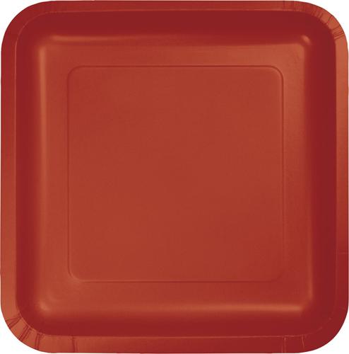 Brick Square Paper Luncheon Plates