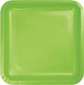 Lime Green Square Paper Luncheon Plates