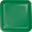 Emerald Green Square Paper Luncheon Plates
