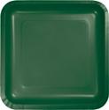 Hunter Green Square Paper Luncheon Plates