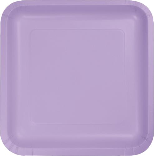 Lavender Square Paper Luncheon Plates