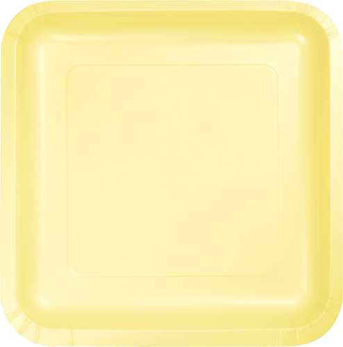 Mimosa Yellow Square Paper Luncheon Plates