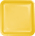 School Bus Yellow Square Paper Luncheon Plates