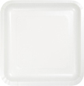 White Square Paper Luncheon Plates