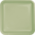 Sage Green Square Paper Luncheon Plates