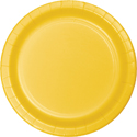 School Bus Yellow Paper Luncheon Plates