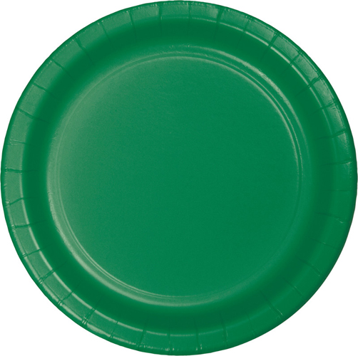 Emerald Green Paper Luncheon Plates