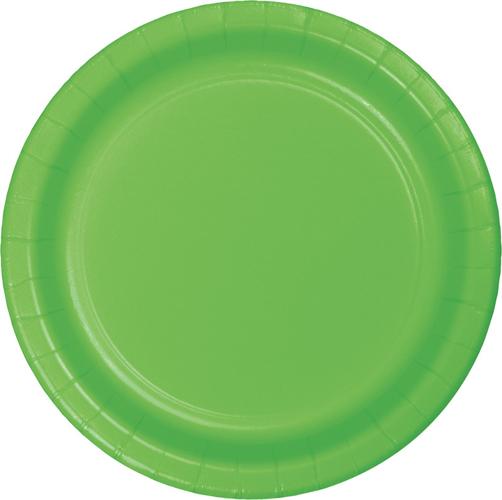 Citrus Green Paper Luncheon Plates