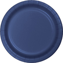 Navy Blue Paper Luncheon Plates