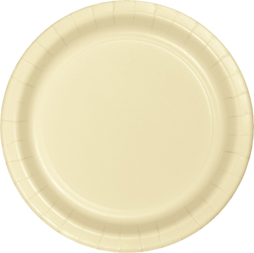 Ivory Paper Luncheon Plates