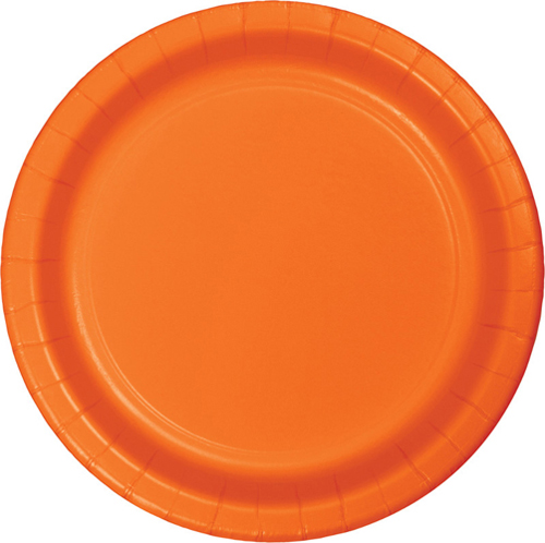 Sunkissed Orange Paper Luncheon Plates