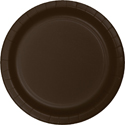 Chocolate Brown Paper Luncheon Plates