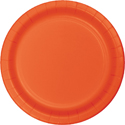 Bittersweet Orange Paper Luncheon Plates