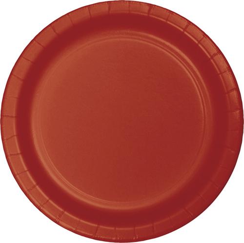 Brick Paper Luncheon Plates