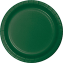 Hunter Green Paper Luncheon Plates