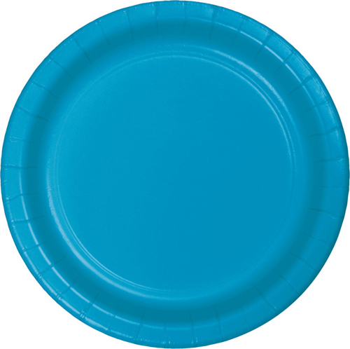 Turquoise Paper Luncheon Plates